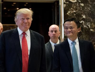 Donald Trump met with Jack Ma at Trump Tower in New York City days before he was inaugurated last year.