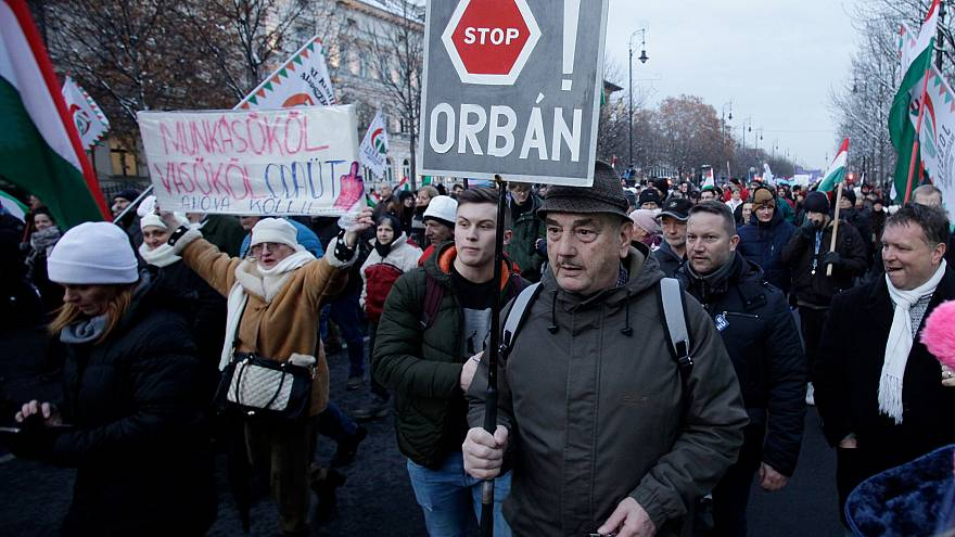 Image: Budapest Orban protest
