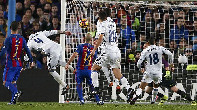 Calcio: el clasico finisce in parità, grazie al solito Ramos ''dell'ultimo minuto''