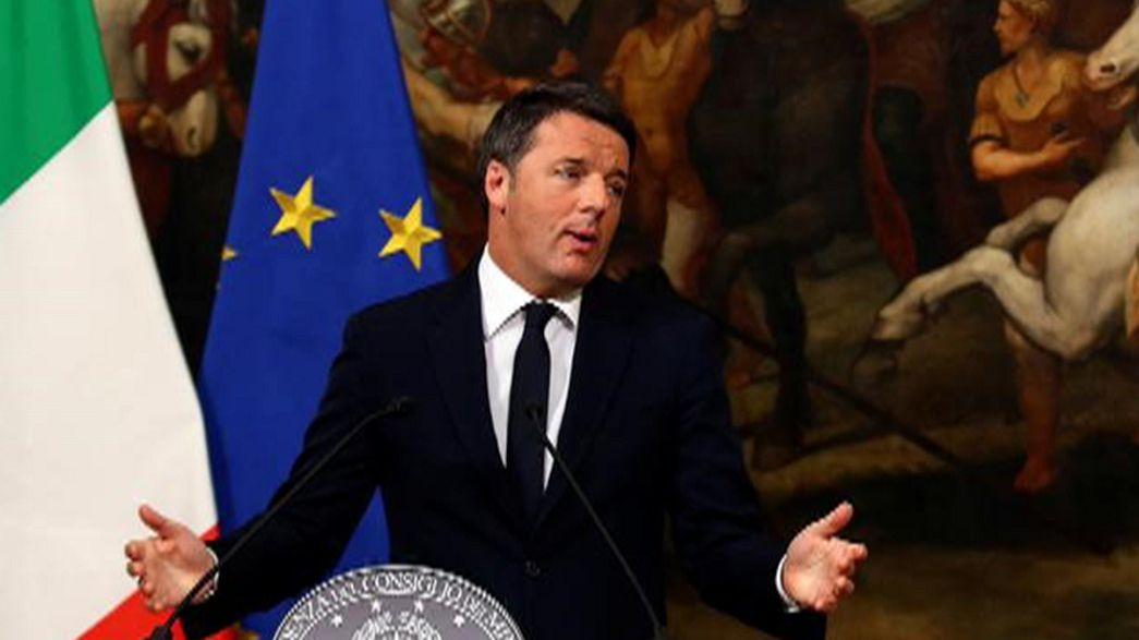 Demissão de Renzi levanta questões dentro e fora de Itália