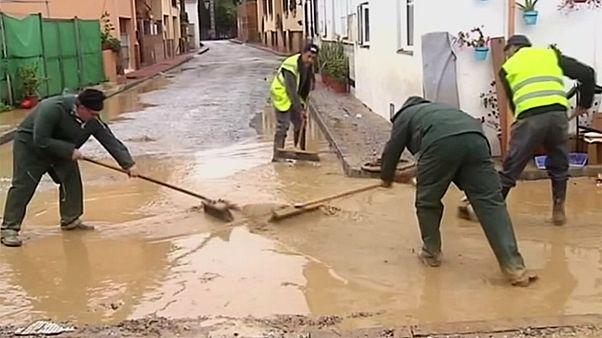 سیلاب در مالاگای اسپانیا خسارات زیادی برجای گذاشت