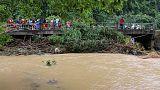 سیل در جنوب تایلند جان ۱۴ نفر را گرفت