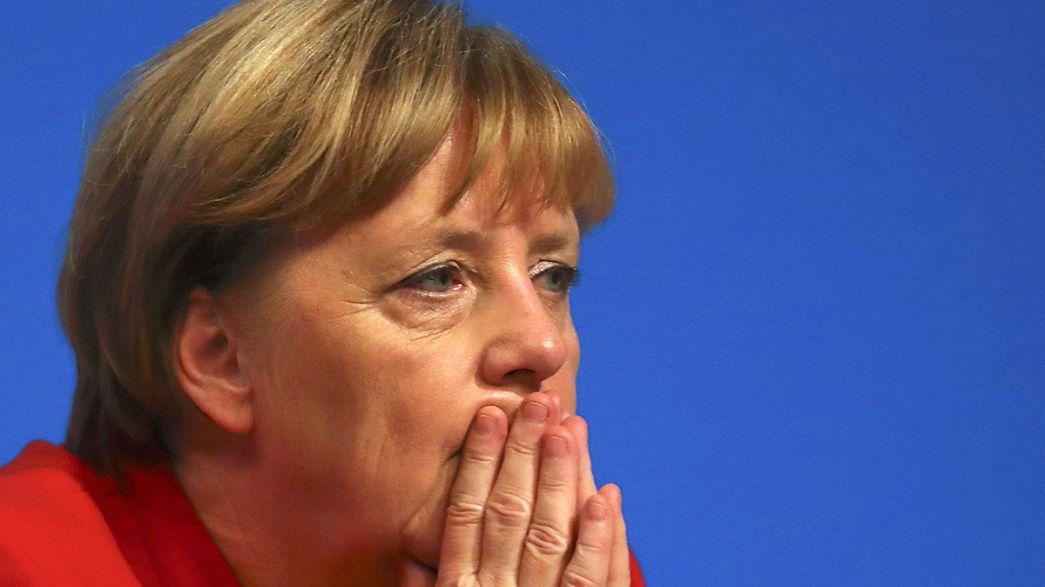 Réélection peu glorieuse de Merkel à la tête de son parti