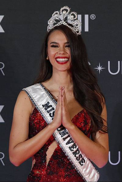 Miss Philippines Catriona Gray after being crowned as Miss Universe 2018.