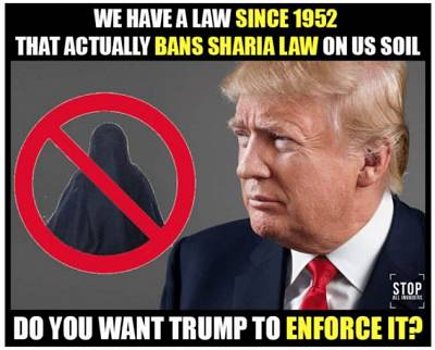 The post with the most engagement that featured Donald Trump emerged after the election, on January 23, 2017. It was a conspiracy theory about President Barack Obama refusing to ban Sharia Law.