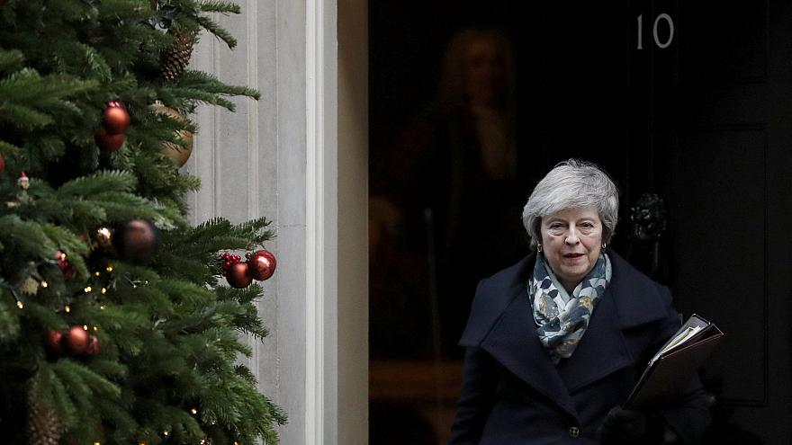 Image: Prime Minister Theresa May leaves 10 Downing Street in London on Dec