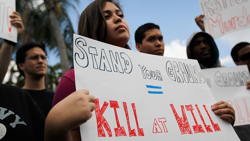 Image: Supporters of Trayvon Martin gather for a rally in front of Florida