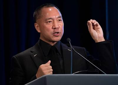 Chinese billionaire Guo Wengui at a news conference in New York, on November 20, 2018.