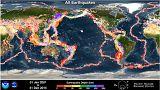 21. asrın ilk 15 yılının bütün depremleri tek animasyonda