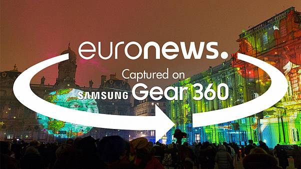 """360 video: Experience the """"Festival of lights"""" of Lyon"""