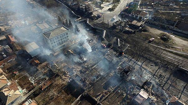 Inferno horror in Bulgaria as freight train derails
