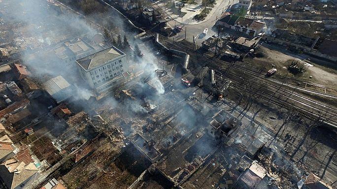 Bulgaristan'da gaz taşıyan yük treninde patlama