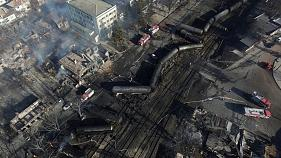 Widespread damage after train blast Bulgaria