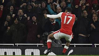 Nigeria's Iwobi on target as Arsenal beat Stoke City at home