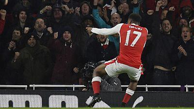 Nigeria's Iwobi on target as Arsenal beat Stoke City at home
