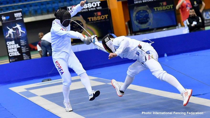 Fechten: Kweon Youngjoun holt Gold in Doha