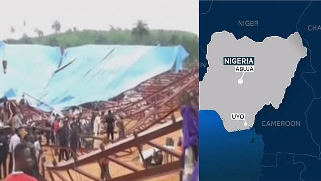 Church collapse in Nigeria kills at least 60