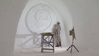 Rus sanatçıların 'buzlu' maharetleri