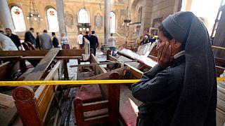 Attentat à la bombe dans une église copte du Caire (Egypte)