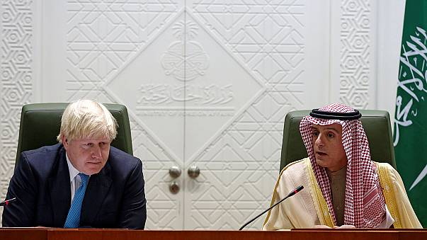Boris Johnson defiant in Saudi Arabia