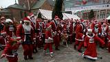Santa run in Riga, Paris
