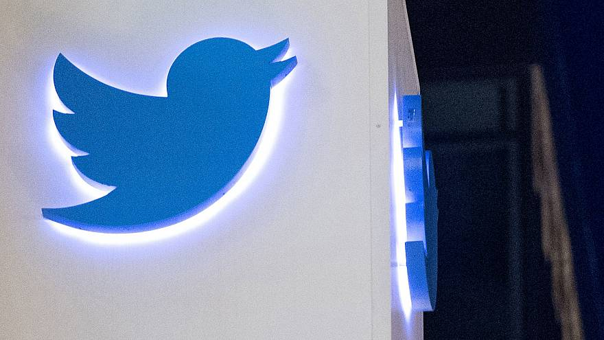 Image: The Twitter logo on the company's headquarters in San Francisco on N