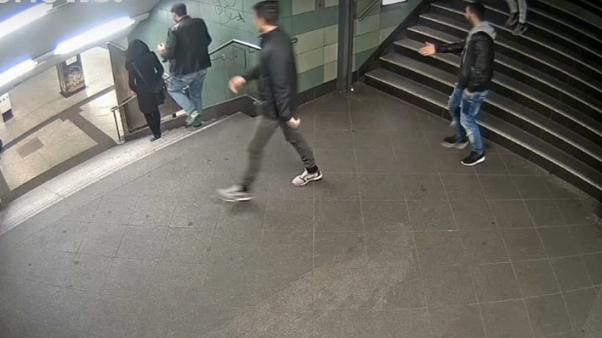 Police close on man who kicked woman down Berlin subway stairs