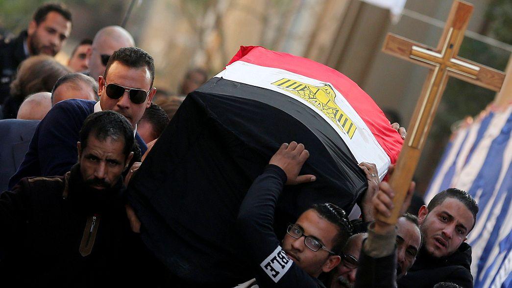 تشييع جثامين التفجير الانتحاري الذي استهدف الكنيسة البطرسية