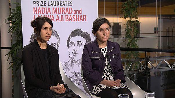 Former ISIL sex slaves receive the Sakharov Prize