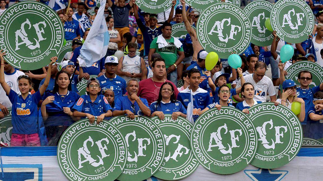 Brésil : dernier hommage du monde du foot au Chapecoense