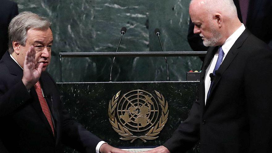 أنطونيو غوتيرس يؤدي اليمين كأمين عام جديد للأمم المتحدة