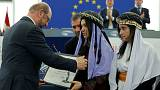 Escaped ISIL sex slaves win EP's Sakharov Prize