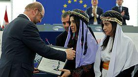 Las ganadoras del Sájarov piden a Europa que proteja a los yazidíes