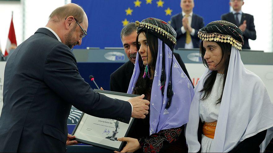 Átvették a jazidi kisebbségért harcoló nők az EP Szaharov-díját