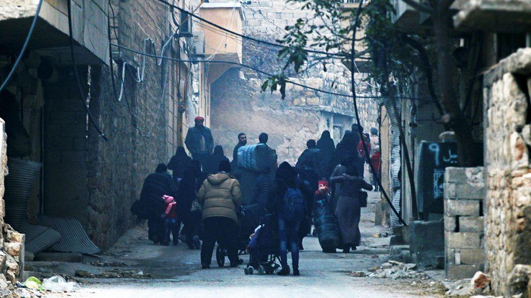 نداءات استغاثة من حلب الشرقية على مواقع التواصل الاجتماعي