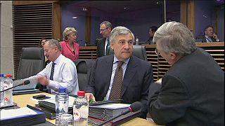 El italiano Antonio Tajani, candidato de los populares a la presidencia de la Eurocámara