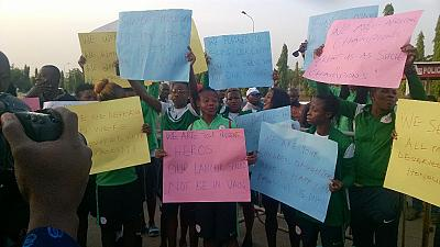 Nigeria: Super Falcons storm NASS, protest non-payment of allowances