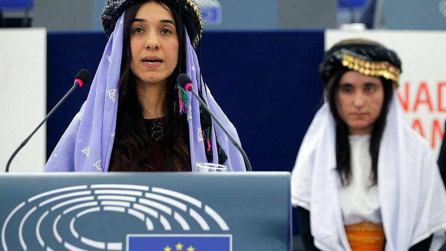 Las activistas Nadia Murad y Lamiya Aji Bashar reciben el premio Sájarov