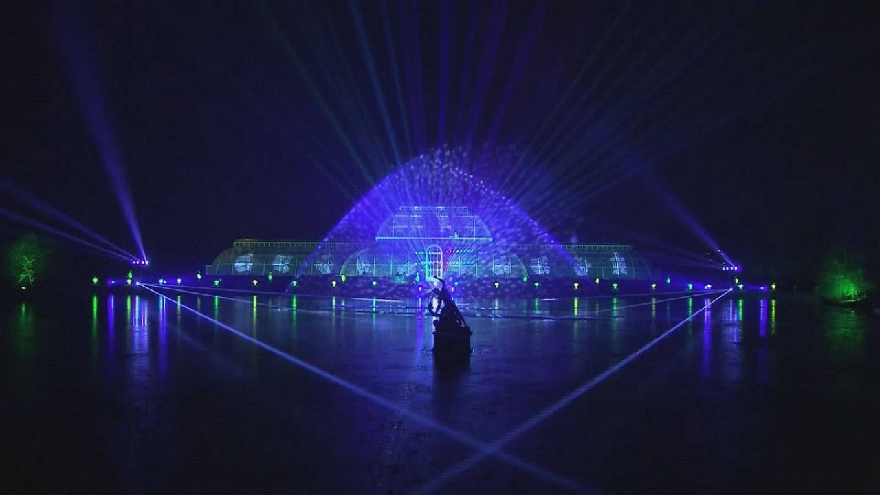 Kew Gardens in London lights up for Christmas