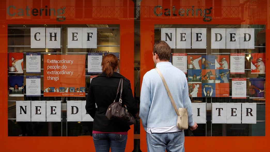 UK employment falls, jobless rate unchanged, wages rise