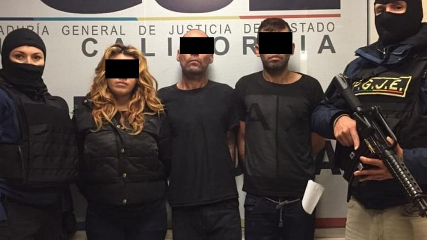 Image: Esmeralda N., Carlos N., and Francisco Javier N. were arrested for t