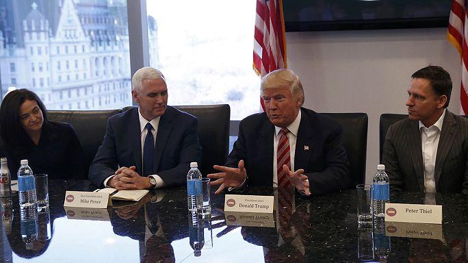 Trump woos Silicon Valley's elite