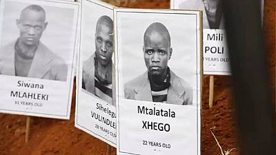 Remains of political prisoners exhumed in South Africa