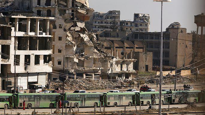 Evacuation des derniers habitants et rebelles d'Alep-est