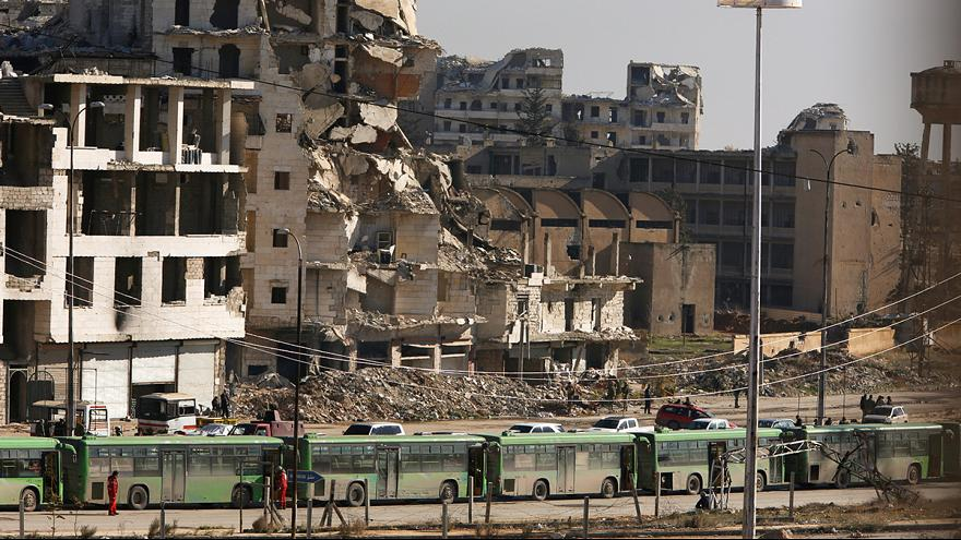 Aleppo evacuation finally gets underway