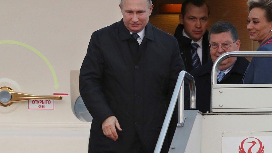 Russian President Vladimir Putin arrives in Japan
