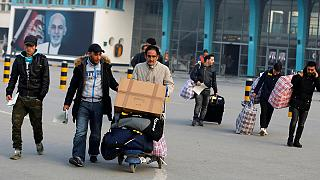 Abgeschobene Asylbewerber in Afghanistan eingetroffen