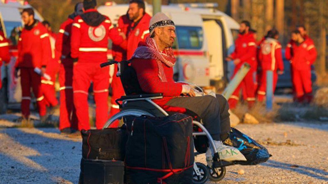 Эвакуация боевиков из восточного Алеппо прервана