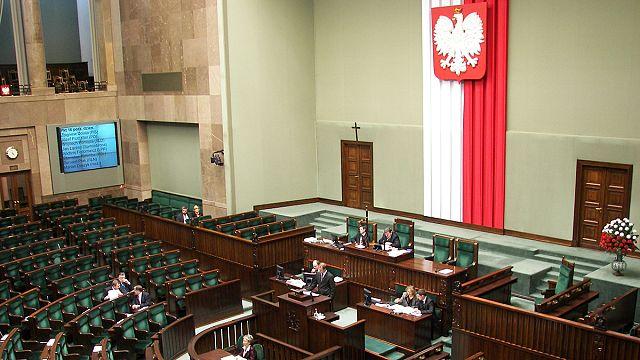 Protestation des médias polonais contre la censure de leur travail au Parlement