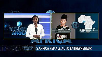 Female auto repairs entrepreneur fixing unemployment and gender prejudice
